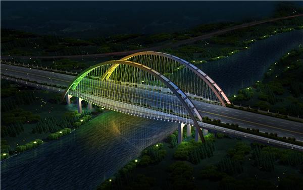 桥梁亮化工程-仰天大桥